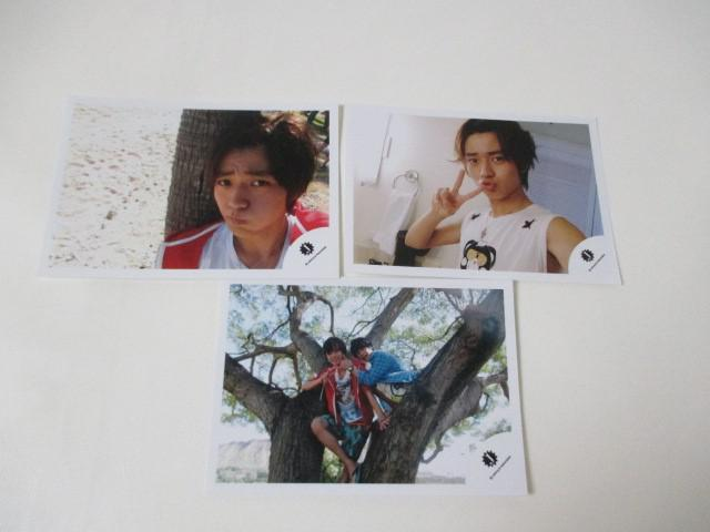 King & Prince 永瀬廉 公式写真 3枚 ハワイ Jr.時代 生写真 ジャニショ オフショット